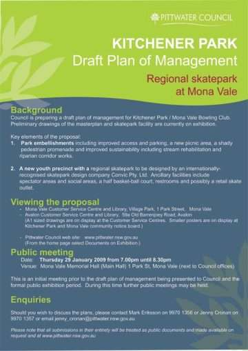 Mona Vale Consultation