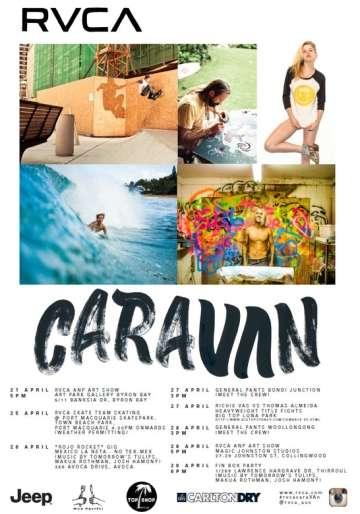 RVCA CARAVAN TOUR